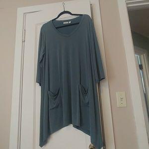 LOGO v neck blouse